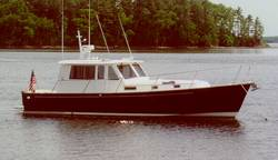 Legacy 40 Sedan Cruiser On Her Mooring