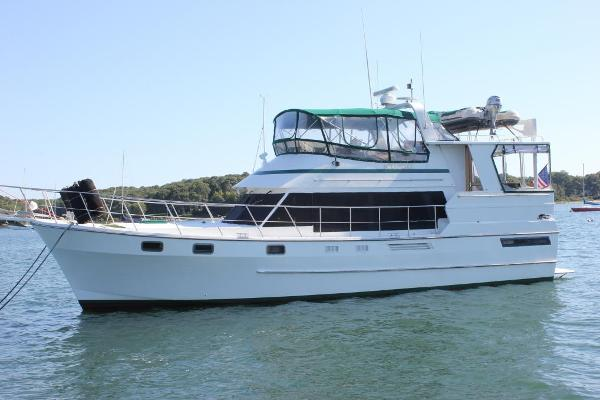 Heritage East 44 Custom Sundeck Port view