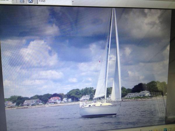 Tartan 28 Piper Journey under sail