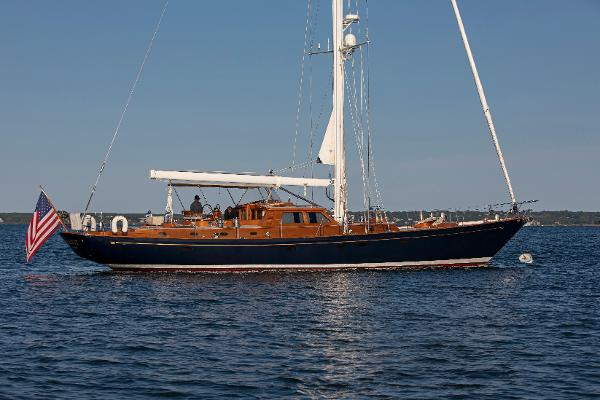Hinckley Cruising Sloop At Anchor