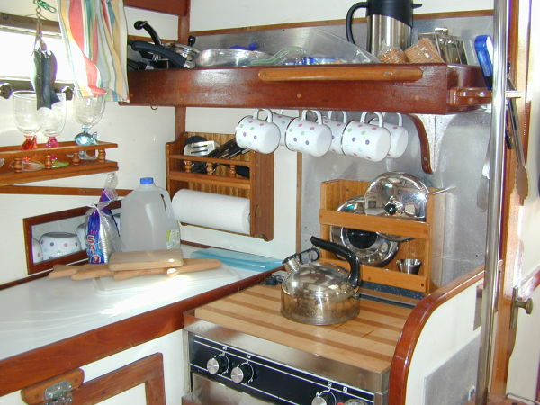 Galley With Numerous Lockers