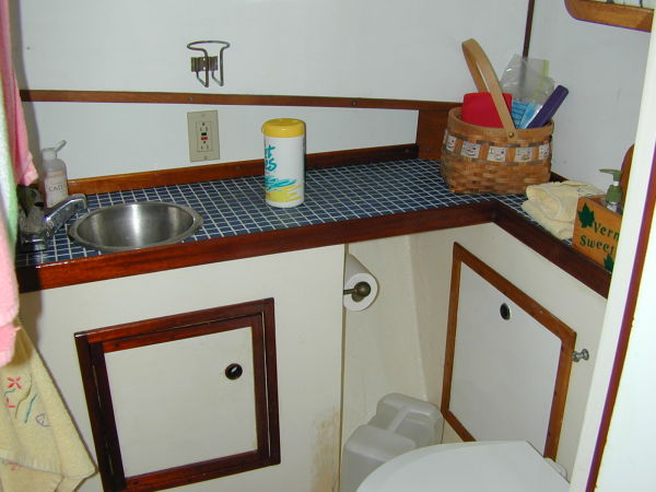 Tiled Counter in Head