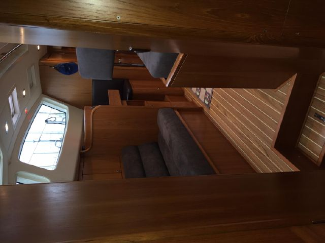 Looking aft from forward area