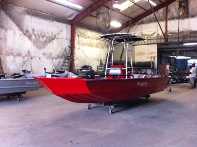 Sea ark boats for sale for Self deploying trolling motor