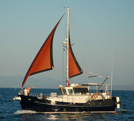 Seahorse Diesel Duck 382 Travelor under sail