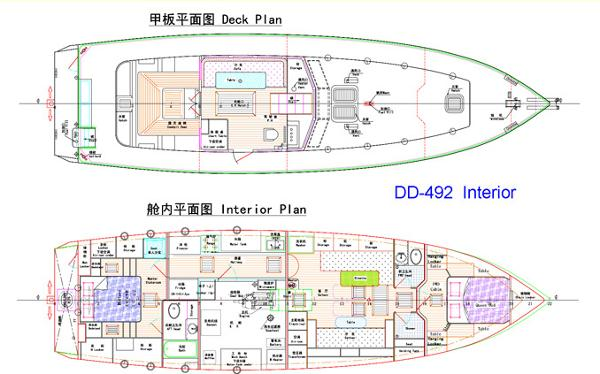 DD-492, Interior and Deck
