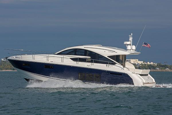 Fairline Targa 48 Gran Turismo Manufacturer Provided Image: Fairline Targa 48 Gran Turismo SIde VIew