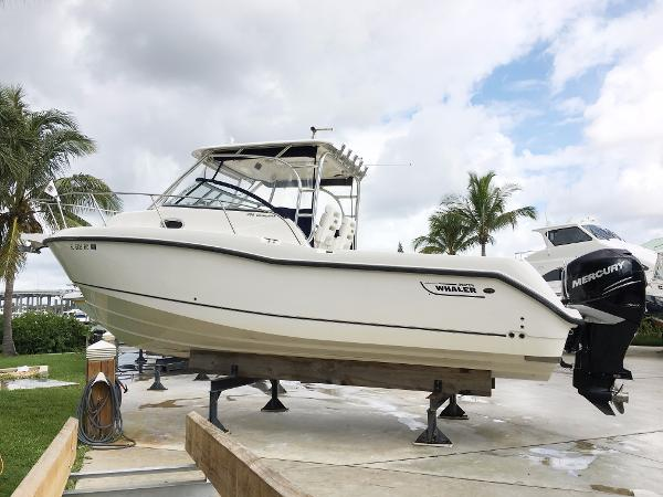 Boston Whaler 285 Conquest Kept inside rack storage