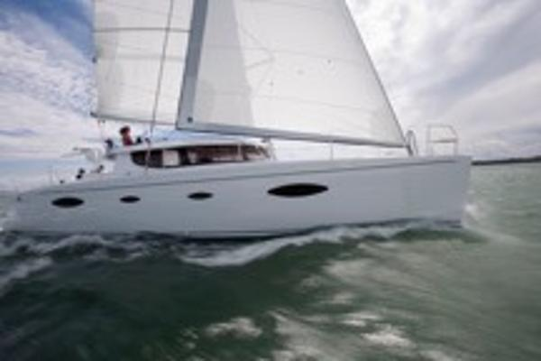 Fountaine Pajot Catamaran Profile running shot