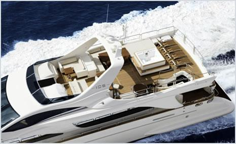 Manufacturer Provided Image: Flybridge From Above