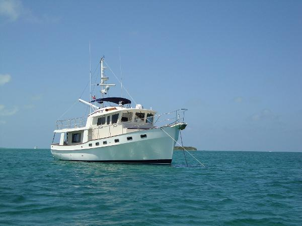 Kadey Krogen 48 North Sea Patricia K at Anchor in the Abacos
