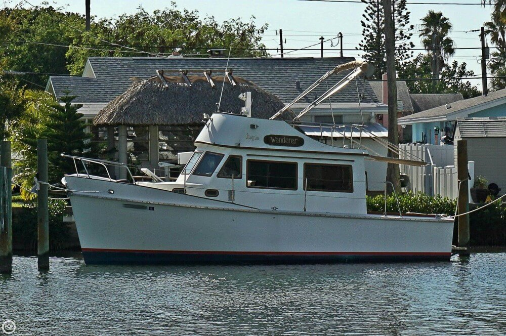 1977 cheoy lee 28 sedan trawler treasure island florida for Fishing treasure island florida