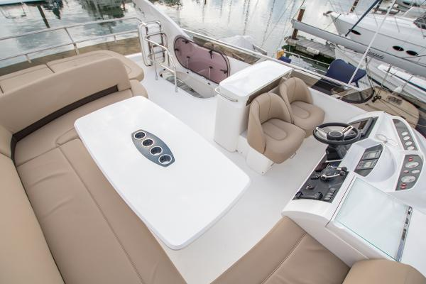 Princess 54 Flybridge Aerial View