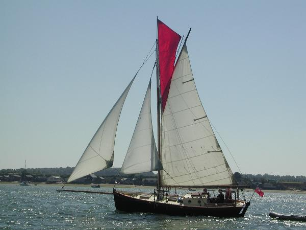 Classic GRP Falmouth Working Boat Under sail