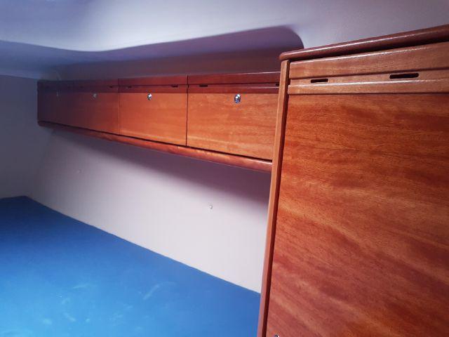 Bavaria 34 ownerscabin closet