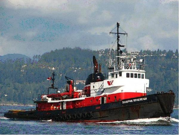 Calumet Shipyard Ocean Going Tug Archive Picture