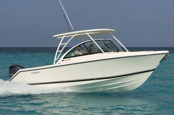 Pursuit DC 265 Dual Console Full boat, stbd side (Manufacturer Photo)