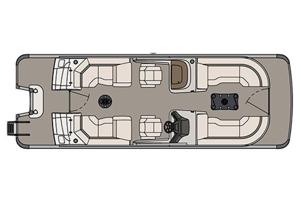 Avalon Ambassador Quad Lounge Windshield - 25'