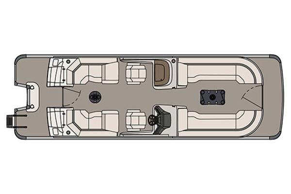 Avalon Ambassador Quad Lounge Windshield - 27'
