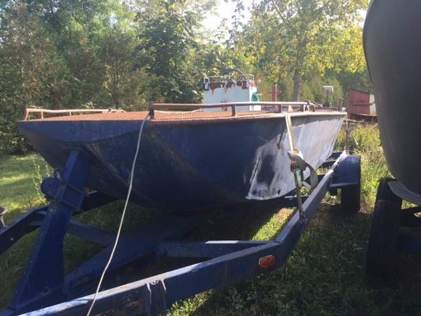 Steel Flat Bottom Jet Work Boat with Trailer