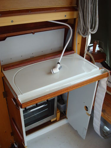 fish cleaning board and washdown