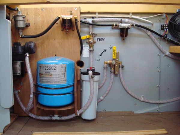filters and pressure tank