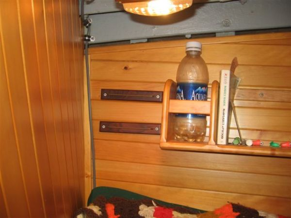 water bottle and book storage(berth)
