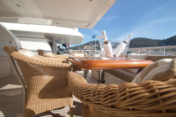 Elegance 78 New Line. Stern deck Furniture.