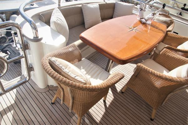 Elegance 78 New Line. Over Shot of Stern Table.