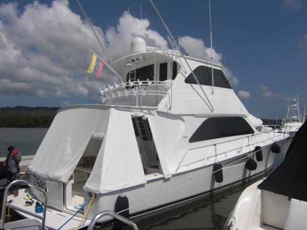 Viking 64 Enclosed Bridge Starboard Quarter Profile