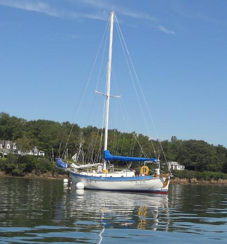 Westsail Cutter On Her Mooring