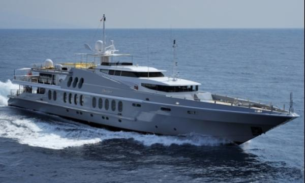 Oceanfast Tri-Deck Motor Yacht On the water