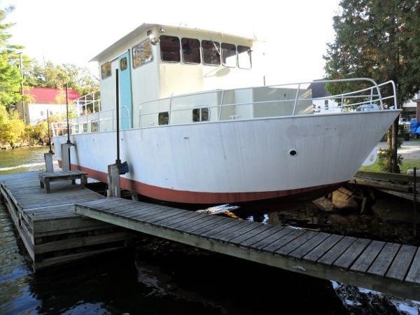 "CUSTOM BUILT 50' x 15' x 2'2"" Steel Custom River Boat/Charter Yacht"