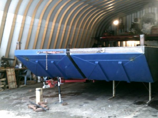 2014 30' X 12' X 3' Steel Sectional Barge /To be built