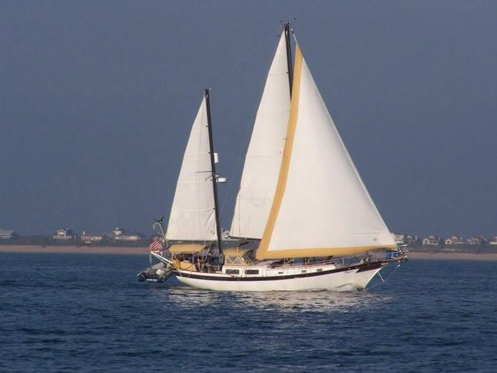 Downeast Yachts Cutter Ketch 1976 Downeaster 38 under full sail.jpg
