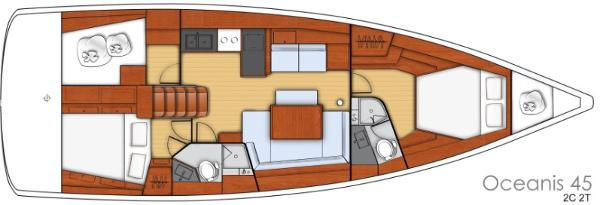 2 Cabin 2 Head Layout