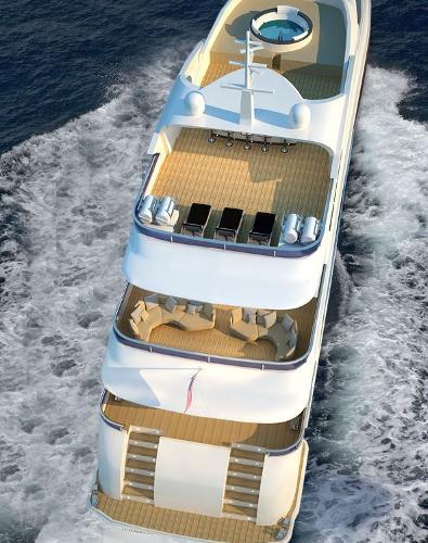 Miss Tor Yacht 130 Tri-Deck Stern
