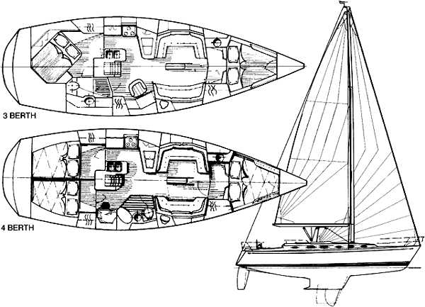 Two Cabin Layout at Top