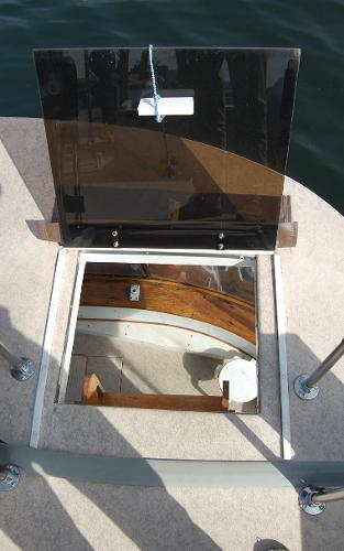 Upper deck access hatch