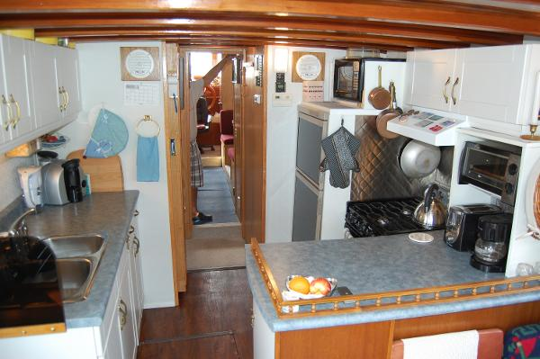 Galley facing bow