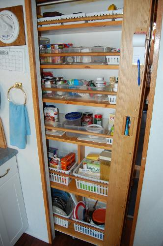 Galley slide in pantry