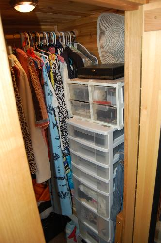 Large walkin cedar lined wardrobe closet