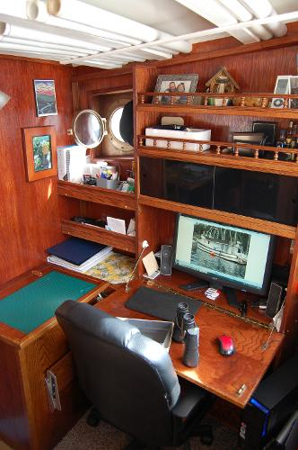Helm desk and storage