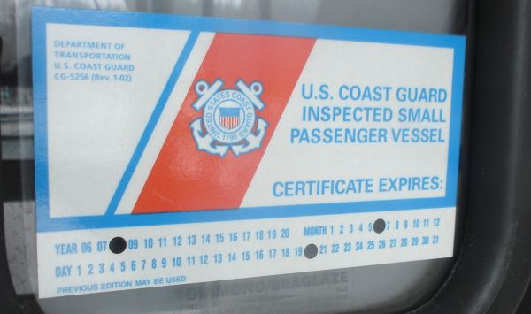 current USCG cert.