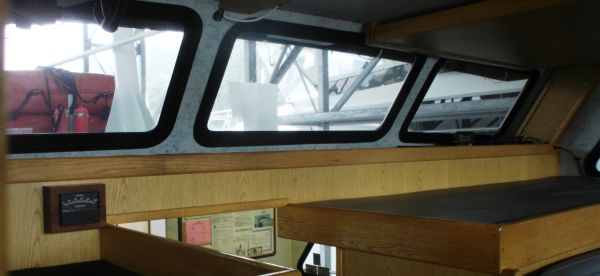 aft vision from pilothouse