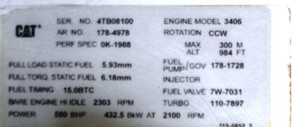 engine plate