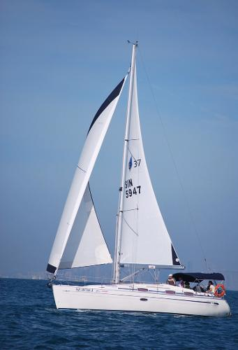 Bavaria 37 Cruiser Actual Boat - Under Way