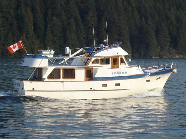 DeFever 49 Pilothouse Defever 49 underway