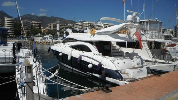 Sunseeker Manhattan 56 On berth.