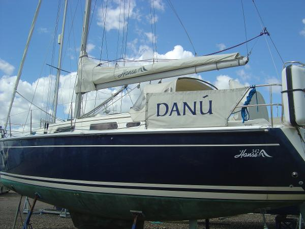 Hanse 342 Hull p/side on